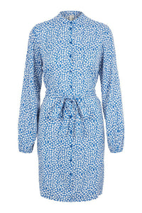 Anasha Shirt Dress - Blue Flower