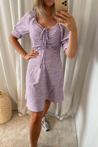 Lula Dress - Purple Printed Flower