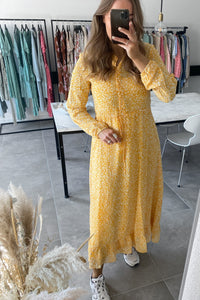 Lucia Ditzy Long Dress - Yellow