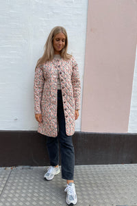 Long Maluca Jacket - Light Pink Print
