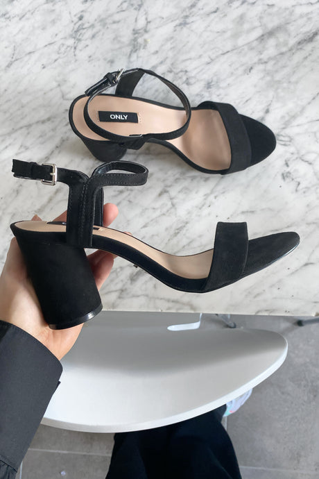 Balsa Heeled Sandal - Black
