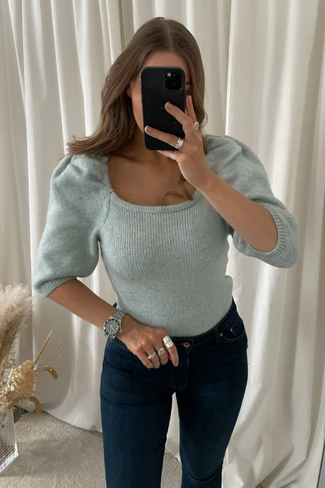 Jeannie 3/4 Pullover - Cashmere Blue