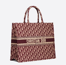 Load image into Gallery viewer, Burgundy Dior Book Tote