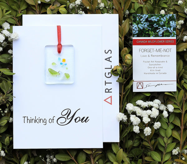 Thinking Of You: Forget-Me-Not Pocket Art/Ornament and Greeting Card