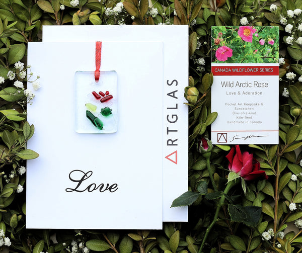 Love: Wild Arctic Rose Pocket Art/Ornament and Greeting Card