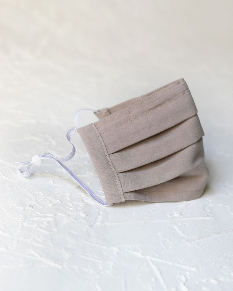 3 Layer Pleated Linen Face Mask