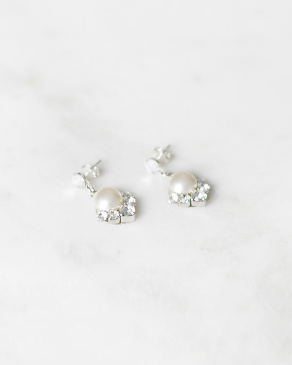 Celestial Pearl Drop Earrings