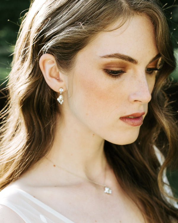 Celestial Pearl Drop Earring Jewellery Set
