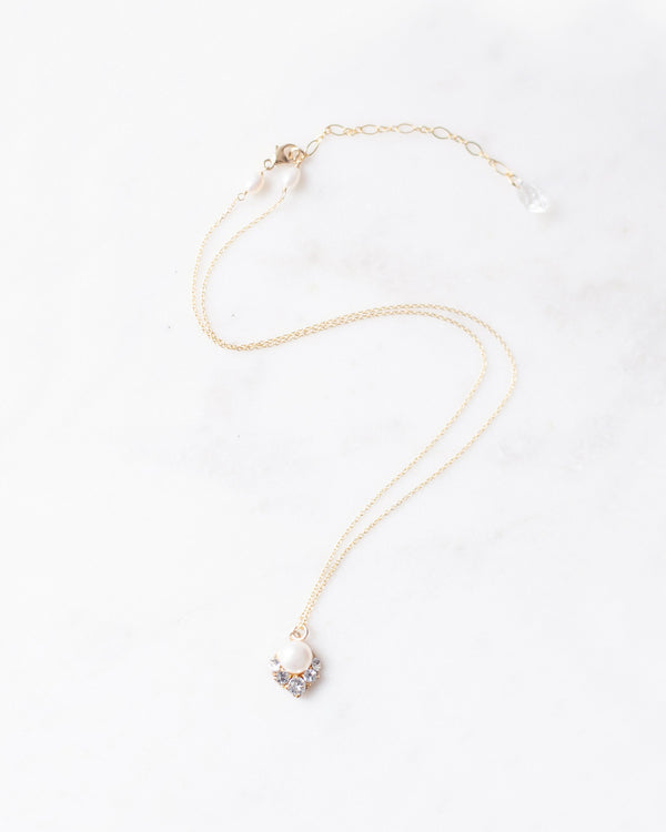 Celestial Pearl Drop Necklace