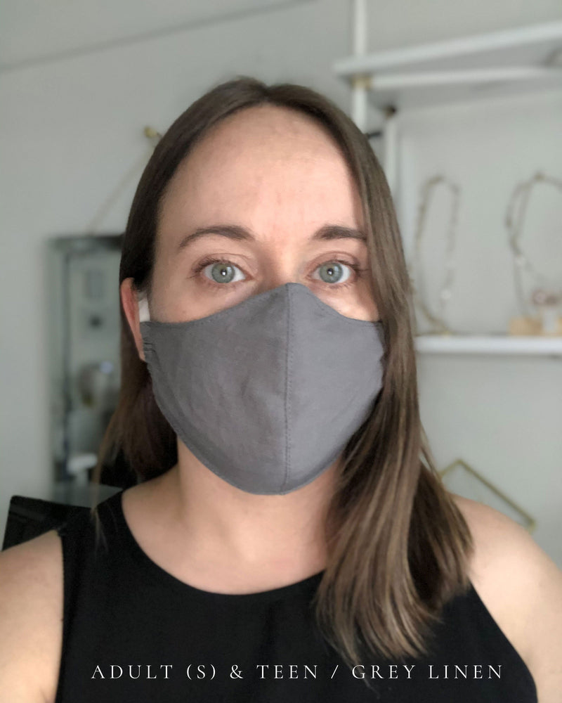 Fitted cotton mask, adult small or teen