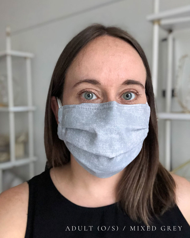 Organic Pleated Face Mask