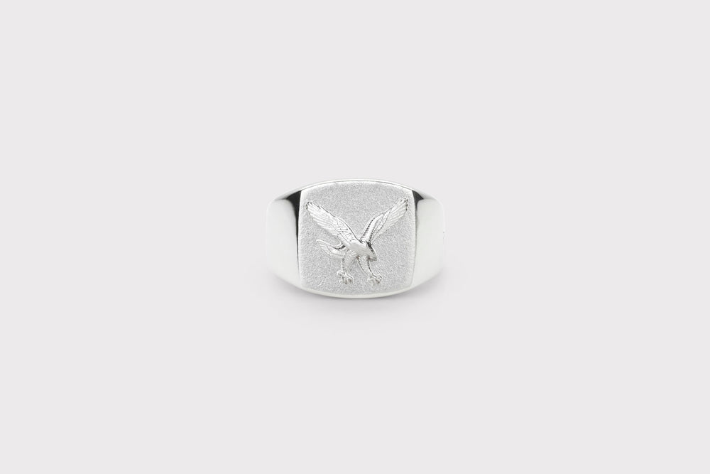 IX Eagle Signet Ring Silver