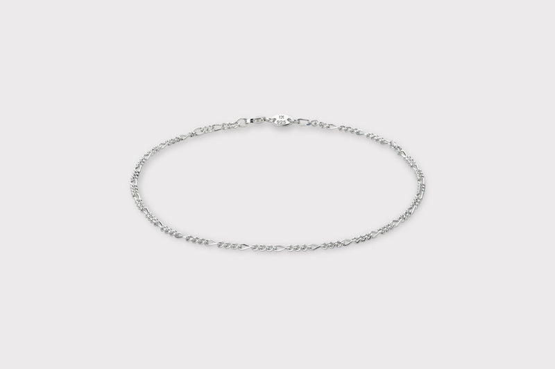 IX Figaro Anklet Silver