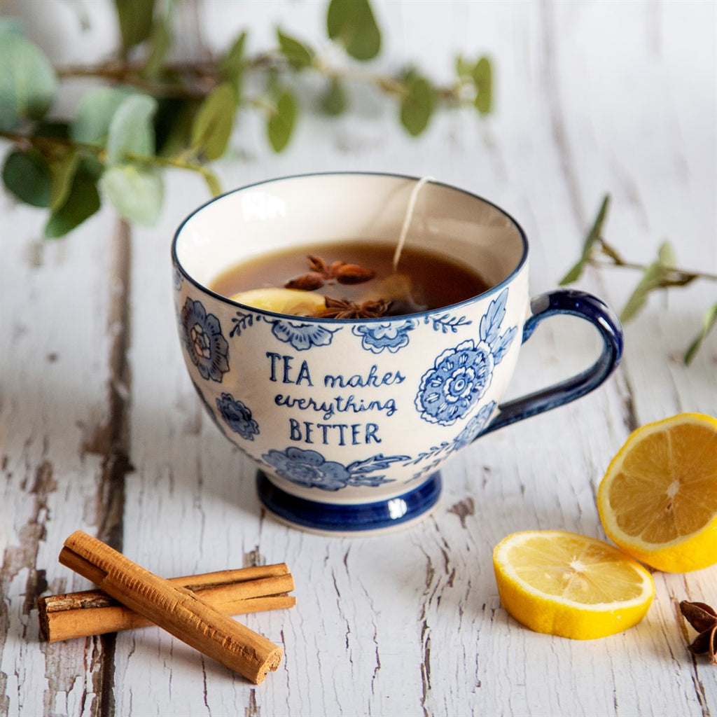 Sass & Belle - Blue Willow Floral Mug