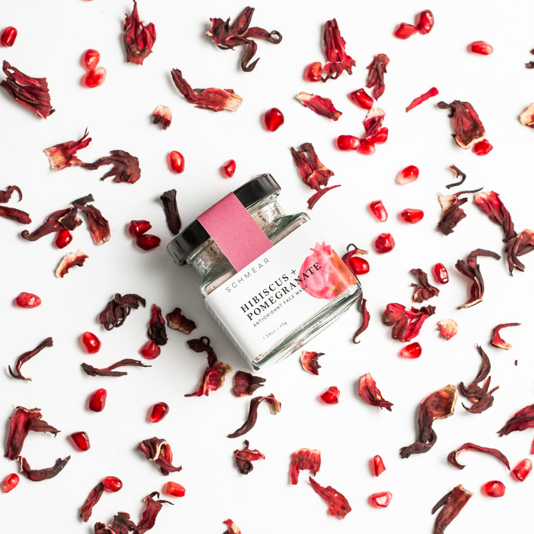 HIBISCUS + POMEGRANATE ANTIOXIDANT FACE MASK