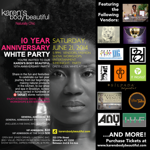 Join Vita Talie at the Karen's Body Beautiful 10th Anniversary White Party!