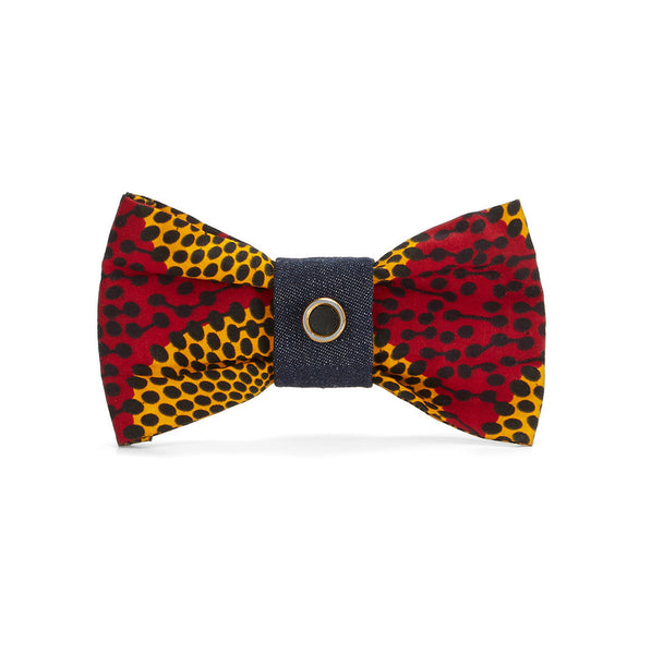 Fire Cheetah Bow Tie Brooch
