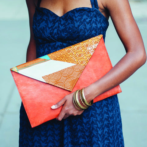 The Flatiron Leather Envelope Clutch