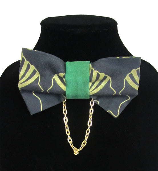 Gold Mother Bow Tie w/ Gold Chain