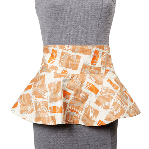 Osu Reversible Peplum Belt in Amber and Navy
