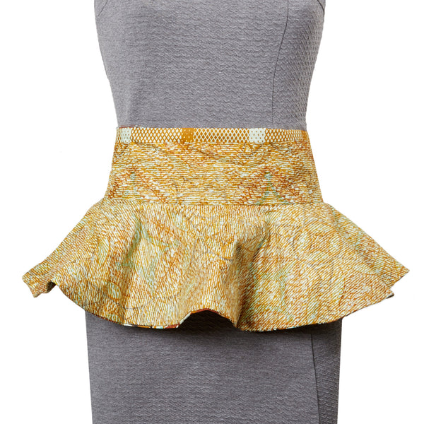 Osu Duo Peplum Belt in Foliage