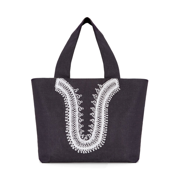 Denimu Toti Embroidered Bag