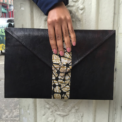 The High Line Envelope Leather Clutch