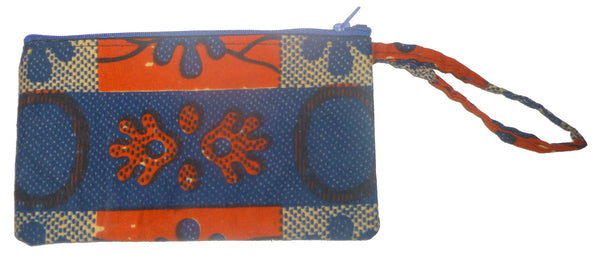 Ankara Wristlet in Hot Hands