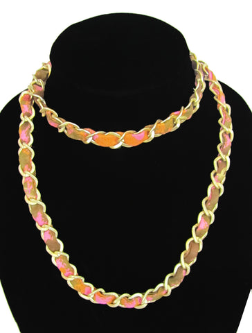 Mango Dream Ankara Gold Matted Necklace