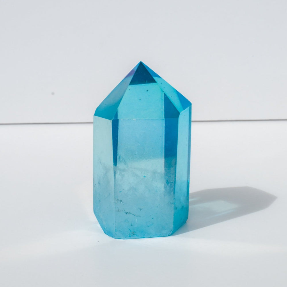 Blue (Aqua) Aura Quartz - Large