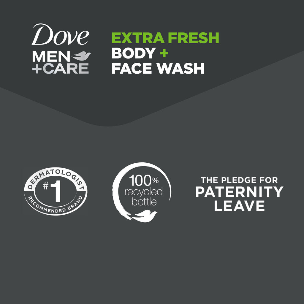 Dove Men + Care Body and Face Wash, Extra Fresh (18 oz., 3 pk.)
