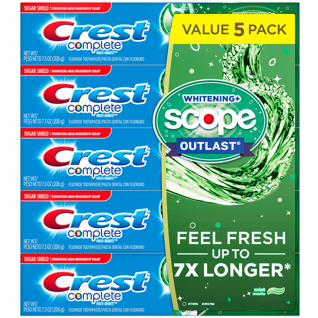 Crest Complete Whitening + Scope Toothpaste (7.3 oz., 5 pk.)