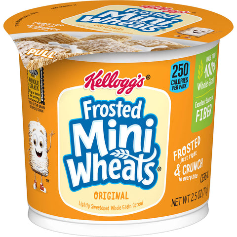 Kellogg's Frosted Mini-Wheats Breakfast Cereal in a Cup (12 ct.)
