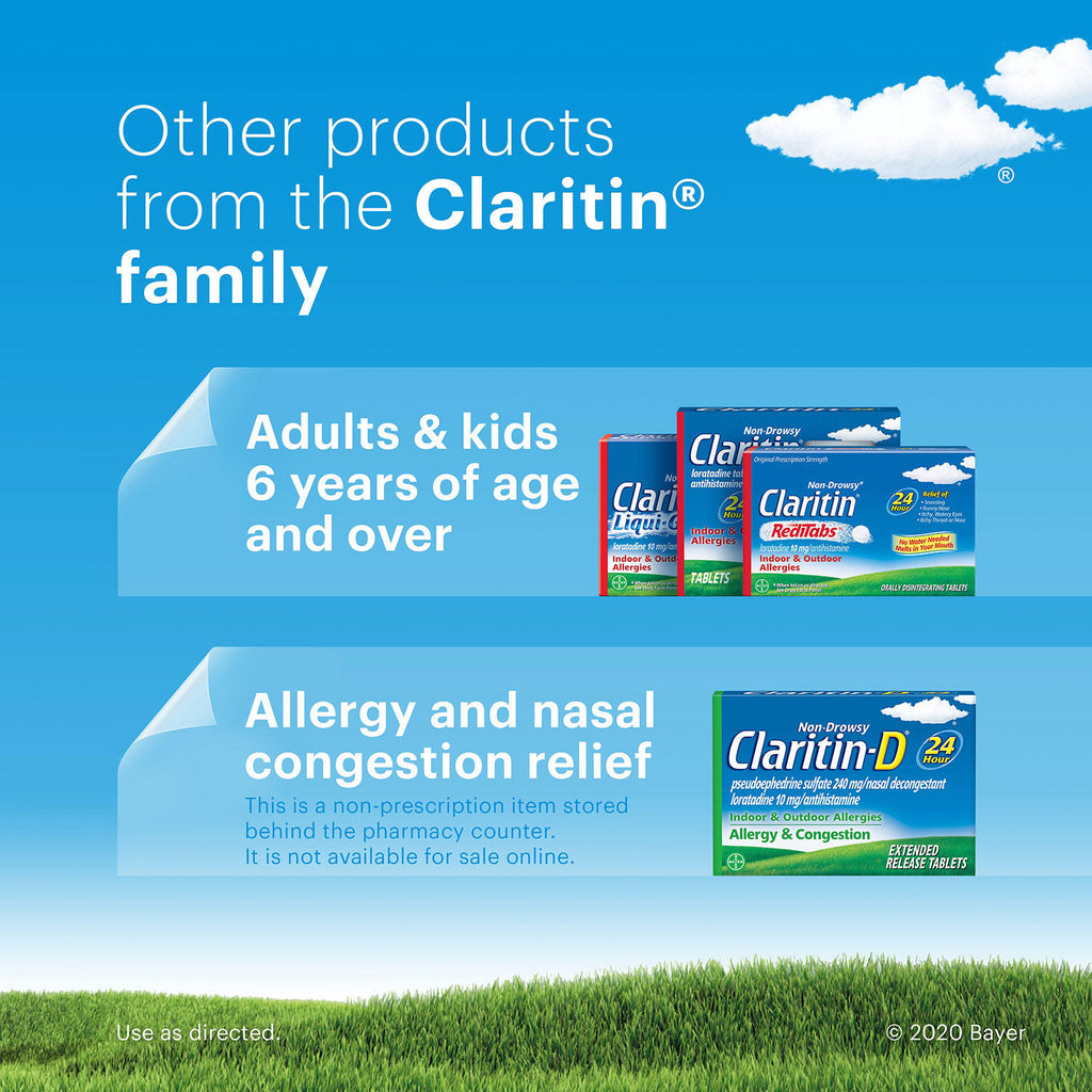 Children's Claritin 24-Hour Non-Drowsy Allergy Grape Chewable Antihistamine Tablet, Loratadine 5 mg (72 ct.)