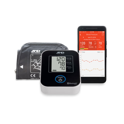A&D Medical Deluxe Bluetooth Connected Upper Arm Blood Pressure Monitor
