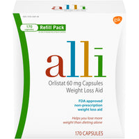 alli Diet Weight Loss Supplement Pills, Orlistat 60mg Capsules (170 ct.)