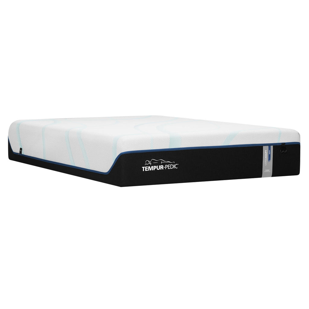 "TEMPUR-LuxeAdapt Soft Pressure-relieving 13"" Queen Mattress and TEMPUR-Ergo Power Base Set"