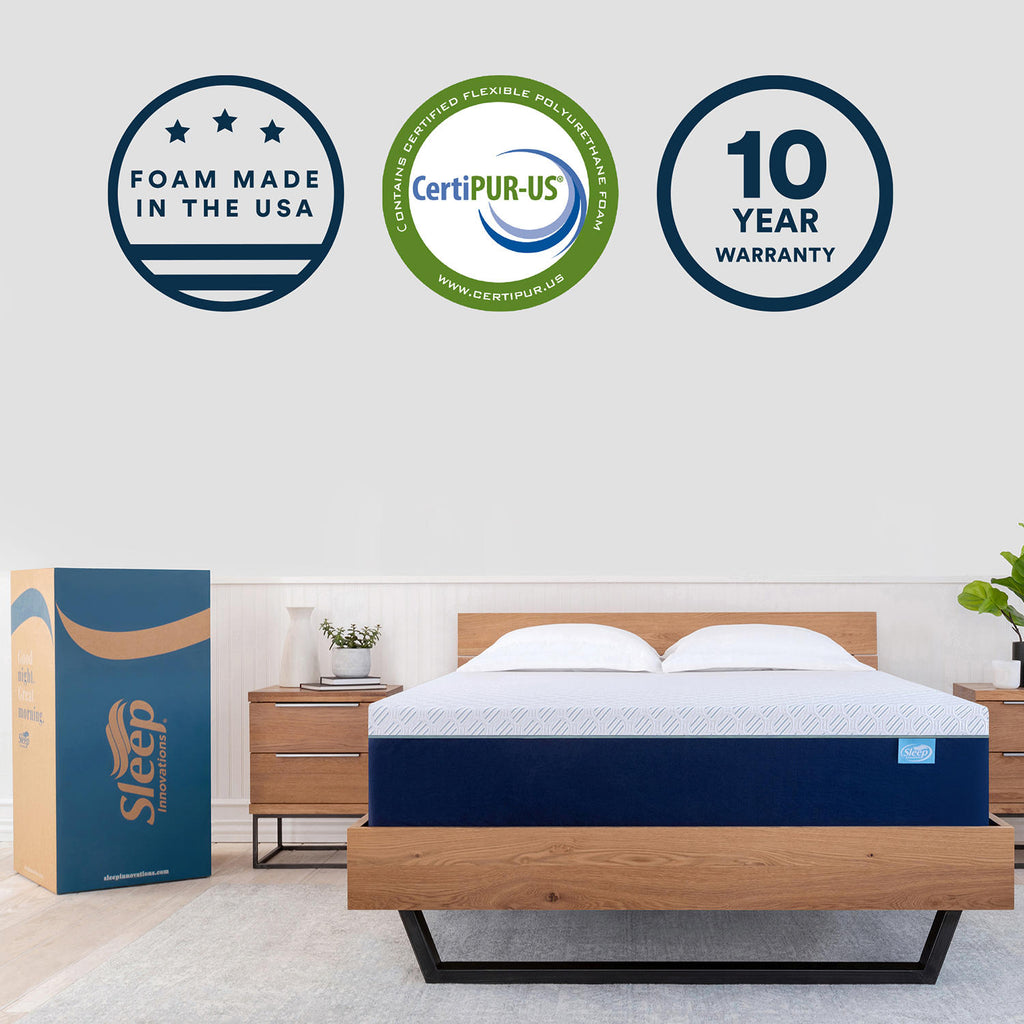 "Sleep Innovations 14"" Memory Foam Queen Mattress"