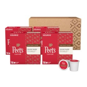 Peet's Coffee Holiday Blend Single-Serve Cups, Dark Roast (64 ct.)