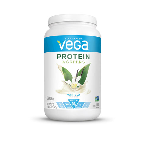 Vega Protein & Greens Vanilla Plant Based Protein Powder (29 servinngs)