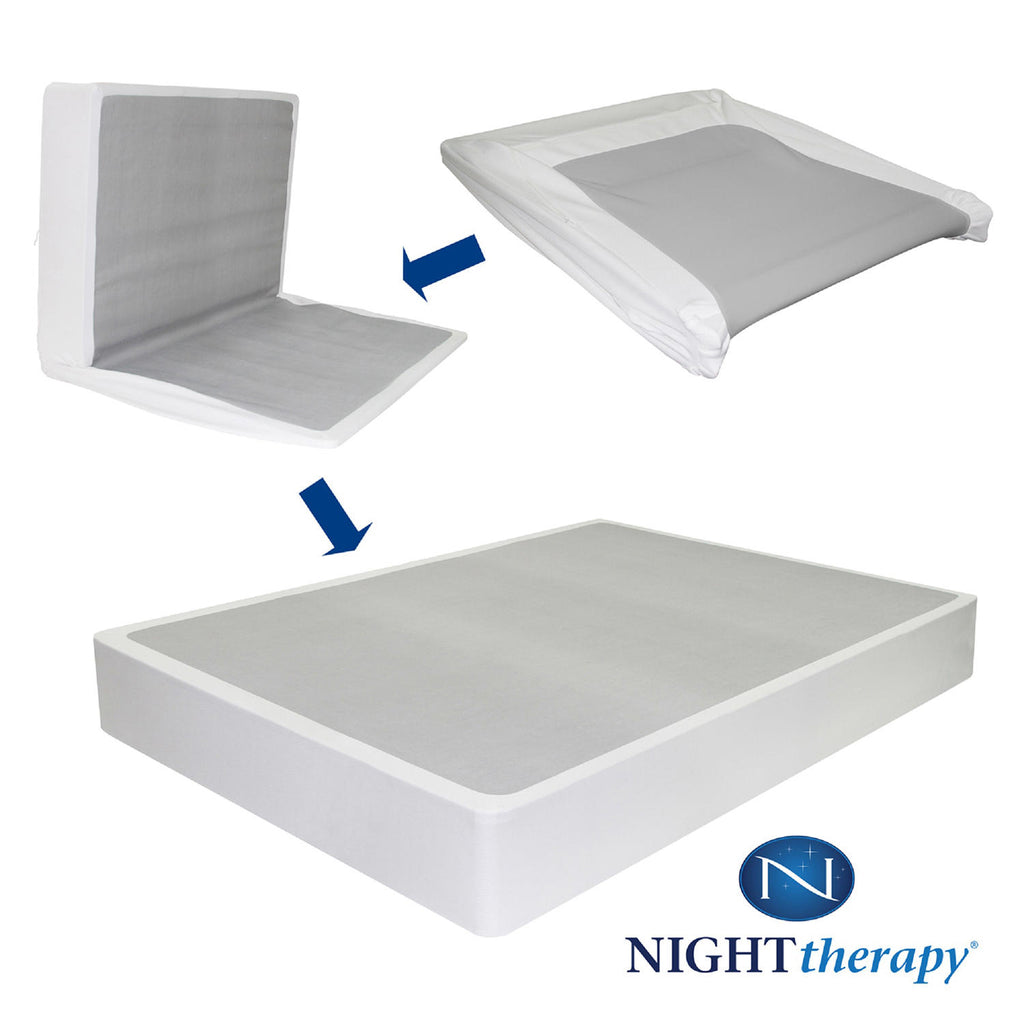 "Zinus Night Therapy iCoil 8"" Spring Twin Mattress and Bi-Fold Box Spring Set"