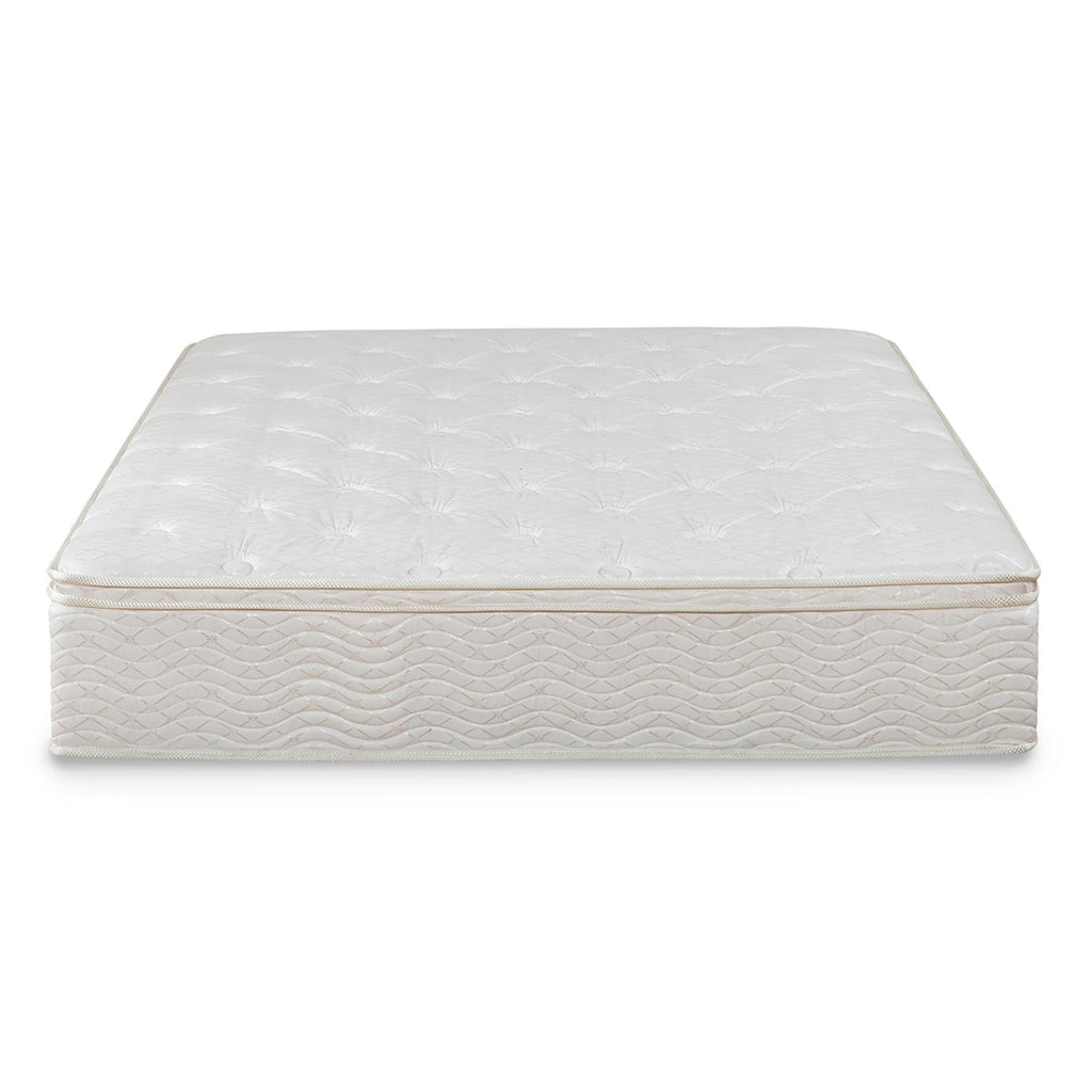 "Night Therapy 12"" Comfort Coil Spring Full Mattress and Smartbase Set"