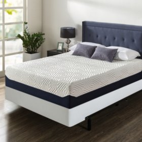 "Zinus Night Therapy 14"" Breathable Cooling Memory Foam Full Mattress and BiFold Box Spring Set"