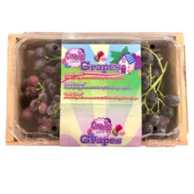 Wood Crate with Grapes (3.25 lbs)