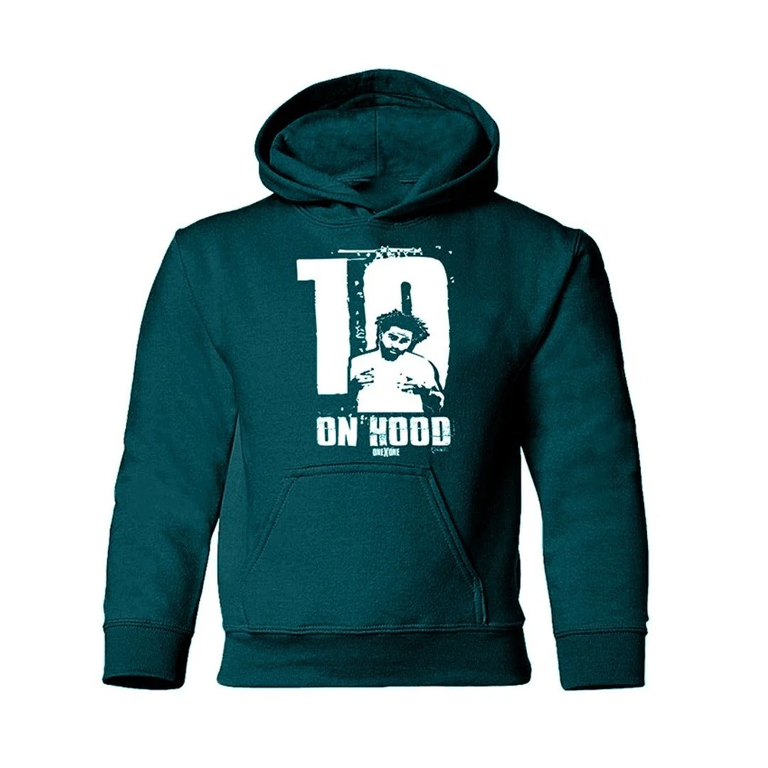 Kids Green On Hood Hoodie