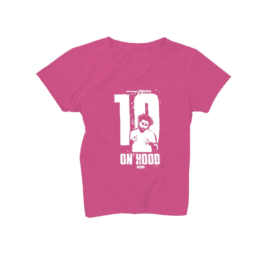 Women's Pink On Hood T-Shirt
