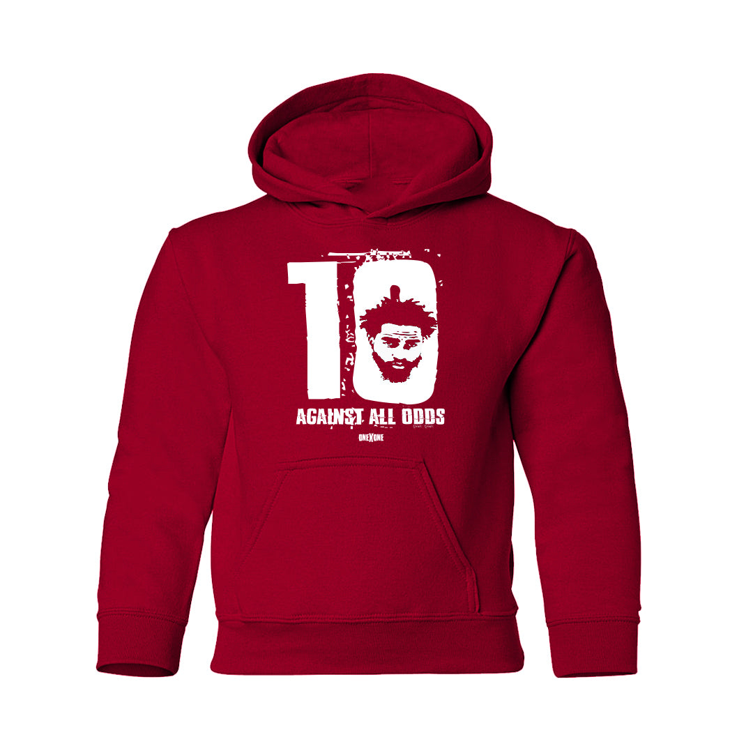 Kids Red Against All Odds Hoodie