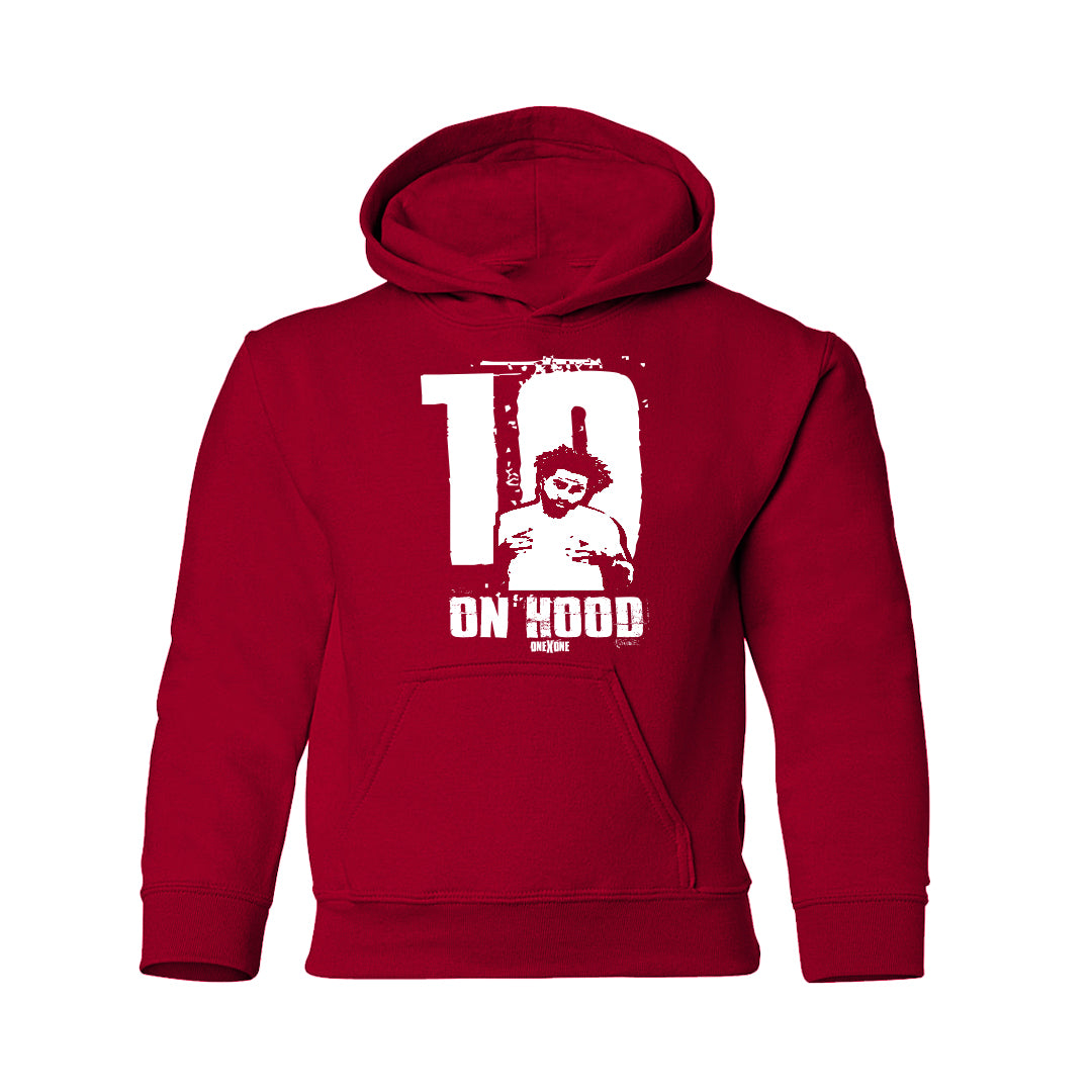 Kids Red On Hood Hoodie