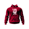 Red On Hood Hoodie