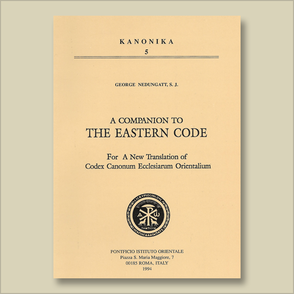 Kanonika 5. A Companion to the Eastern Code. For a New Translation of CCEO